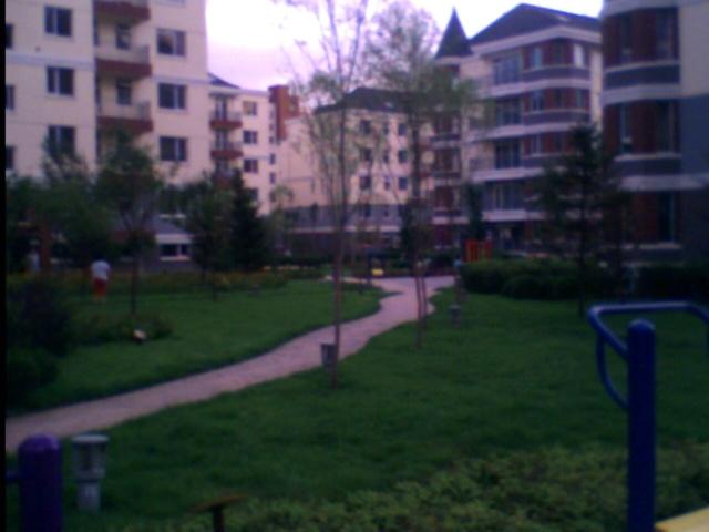 在建的一楼自家小花园