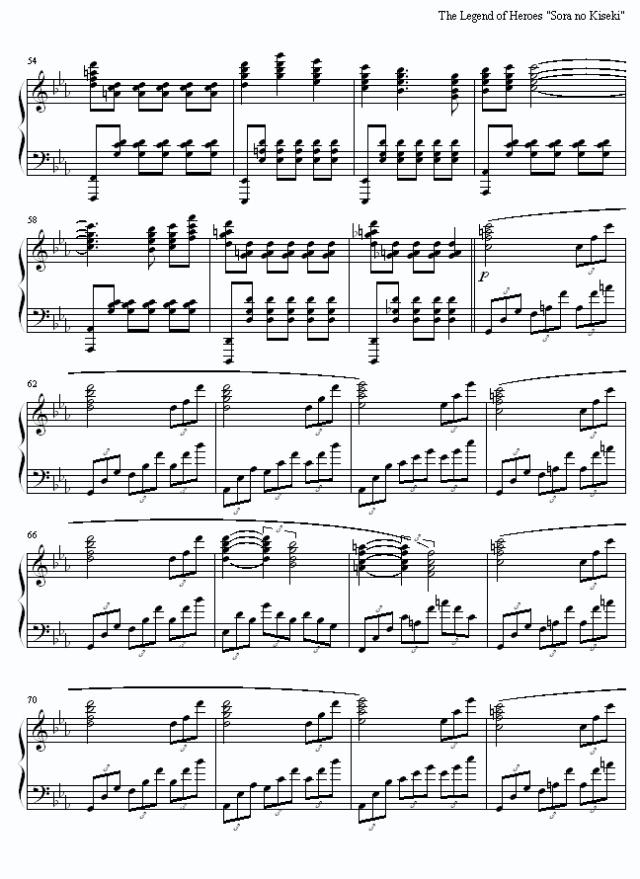 空之轨迹3rd部分钢琴谱