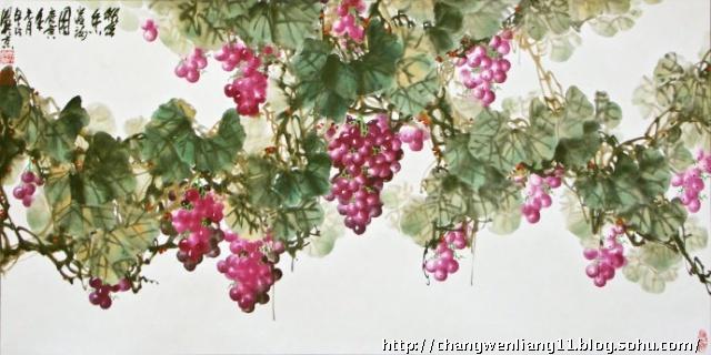 画紫葡萄常用的颜色有:曙红