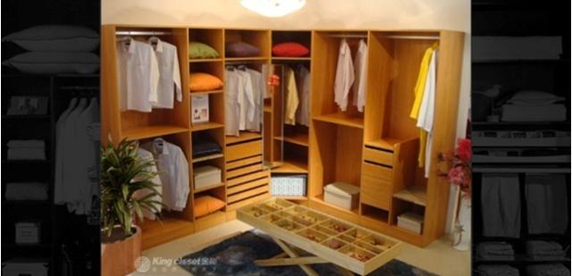 在传统家庭装修中,人们选择衣柜的方式一般有两种: