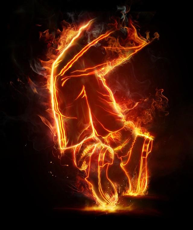 【ps效果】简单而实用的火焰效果