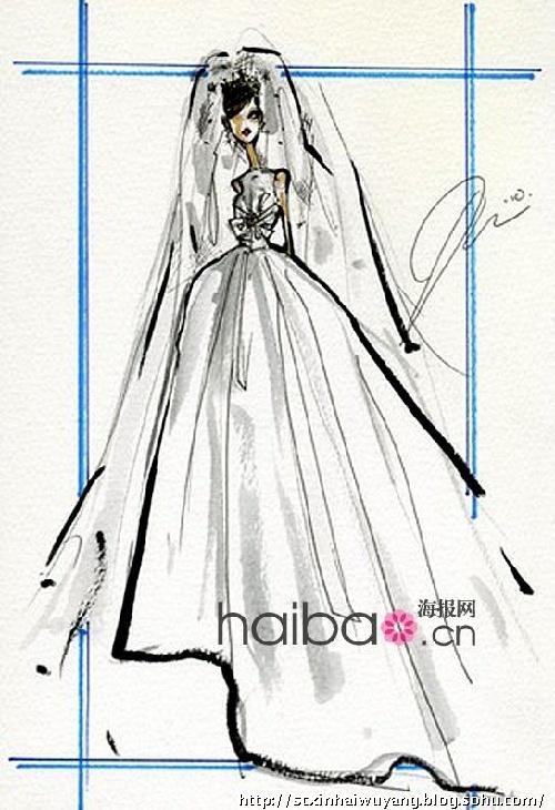 設計師 angela missoni for 英國準王妃kate middleton婚紗設計手稿