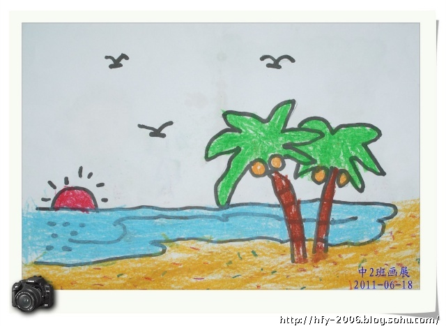 蜡笔风景画 (二)
