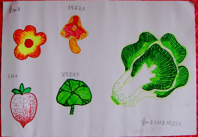 2011二年级下美术第三次课习作图片
