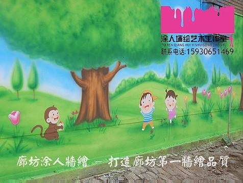 廊坊 北京 天津 幼儿园手绘墙画 墙绘 墙体喷绘 墙体喷画 卡通墙画