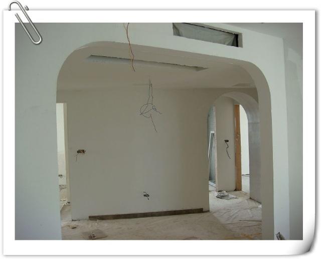 餐厅与客厅的隔断拱门