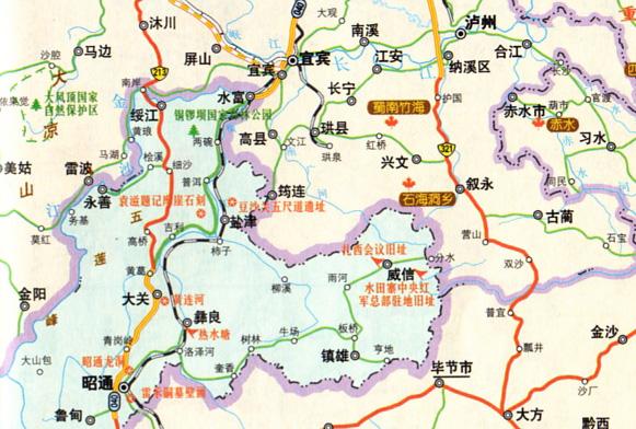 云南昭通盐津兴隆乡地图