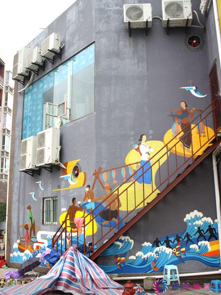 重庆手绘墙--工作室经典墙绘设计案例