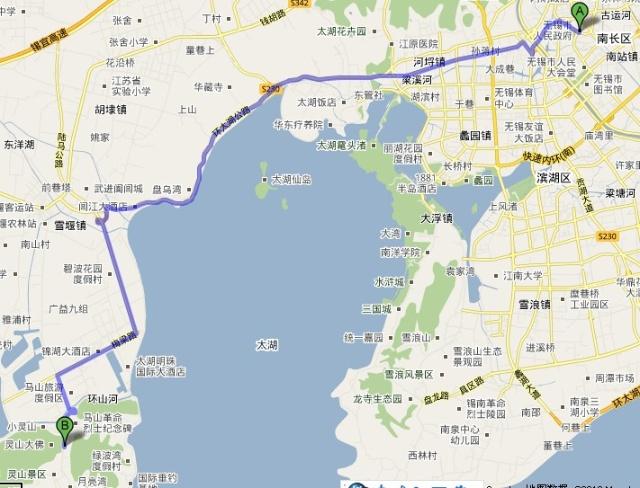 无锡灵山大佛地图