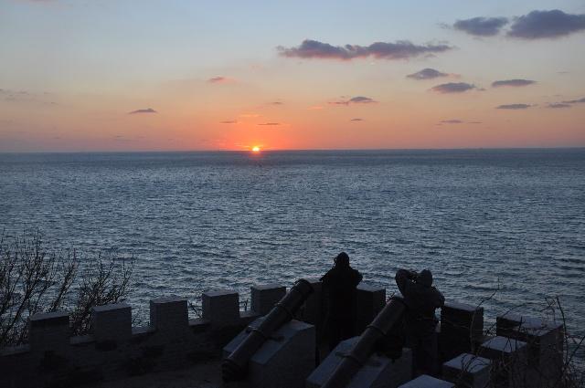 烟台龙口东海夕阳