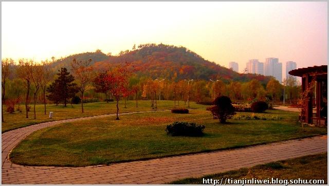 """天津城市环境保护的成功范例___垃圾堆山""""南翠屏公园"""""""