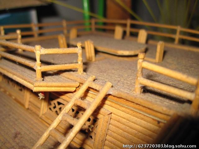 竹签手工制作桌椅