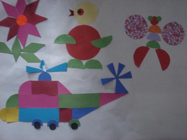 三角形和半圆拼了一架飞机