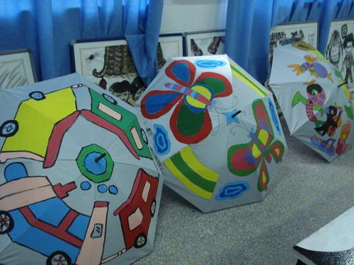 伞上绘画 - 虾米儿3029的博客