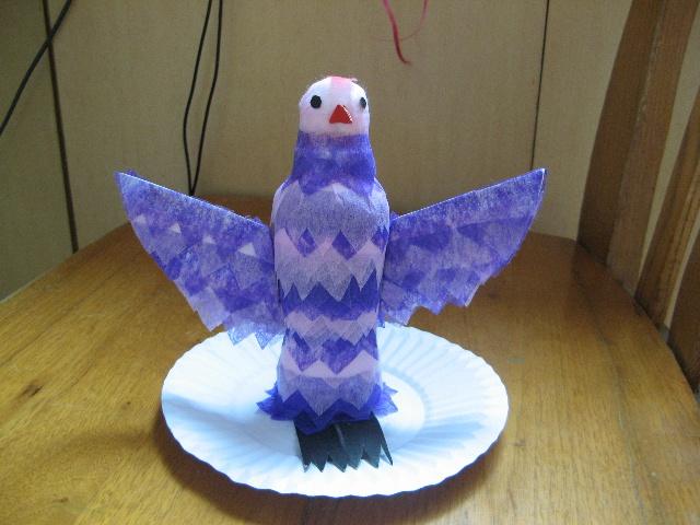 卡纸手工制作小鸟