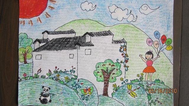 著名幼儿画家徐诗妍喜获少儿绘画比赛一等奖图片
