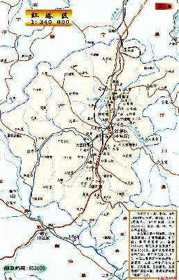 九乡风景区游览地图