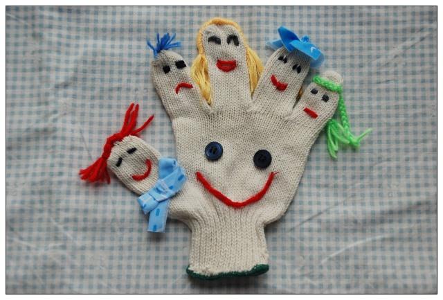 手套简单笔画图片