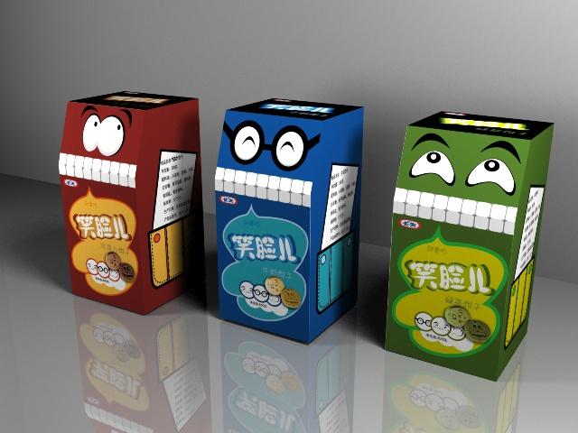 笑脸儿饼干包装盒设计 水平有限 虚心听取宝贵点评!