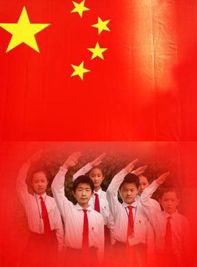 小学生升国旗 素材