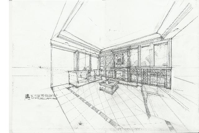 600平米欧式别墅设计手稿