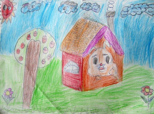 素描房子简笔画,素描普通房子,简单风景房子素描图片,素描房子