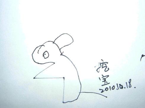 胖兔子画画图片大全可爱