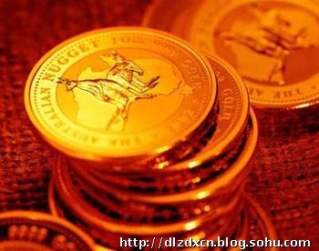 红色钱币ppt素材