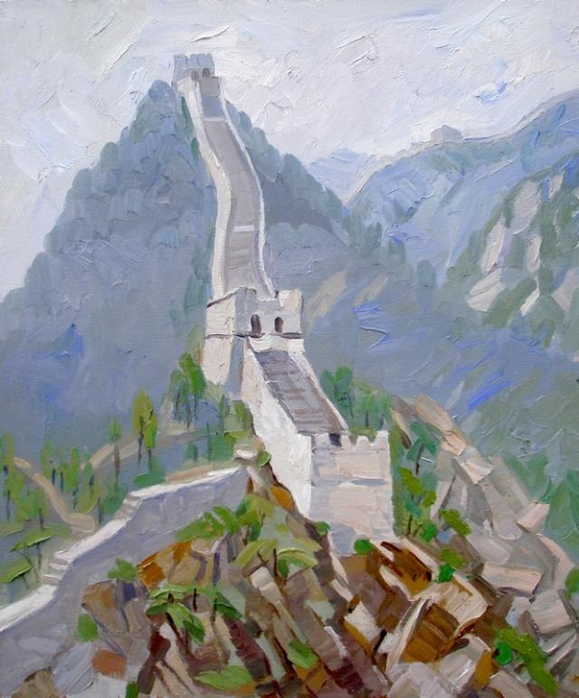 5月17日,画家李小争再觅怀柔深处写生-中国宋庄 环岛
