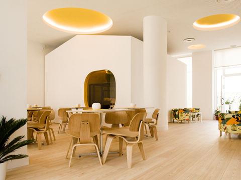 兒童主題咖啡館設計清新質樸裝修風格