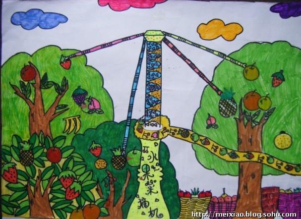 树上的房屋科幻画 住在树上的房子科幻画 科幻画房屋