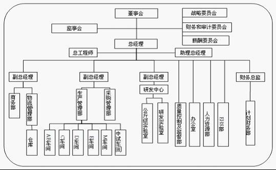 目前的组织结构模式是典型的直线职能制模式