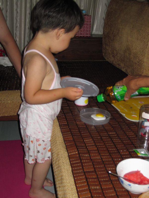 煎鸡蛋&画圆圈